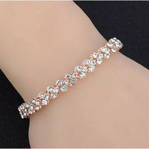 Swarovski Jewelry - Swarovski Elements Rose Gold Crystal Bracelet